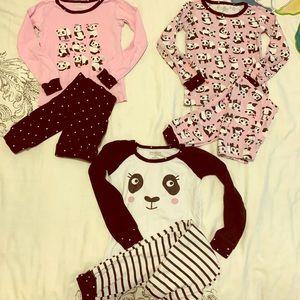 Bundle of toddler pajama sets